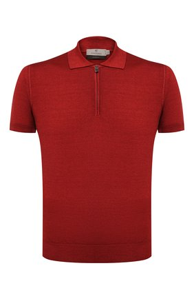 Мужское поло из шерсти и шелка CANALI красного цвета, арт. C0482/MX01165 | Фото 1