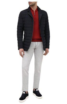 Мужское поло из шерсти и шелка CANALI красного цвета, арт. C0482/MX01165 | Фото 2