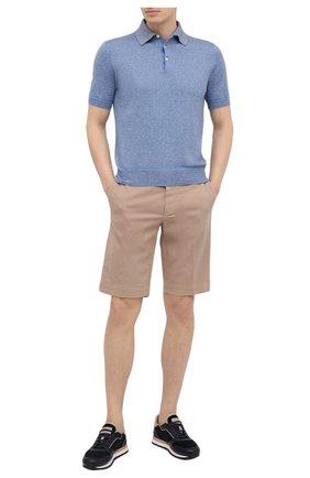 Мужское хлопковое поло CANALI голубого цвета, арт. C0780/MK01140 | Фото 2