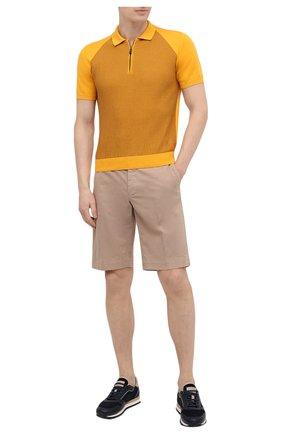 Мужское хлопковое поло CANALI желтого цвета, арт. C0801/MY01191 | Фото 2