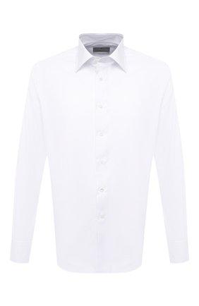 Мужская хлопковая сорочка CANALI белого цвета, арт. N705/GR01654 | Фото 1
