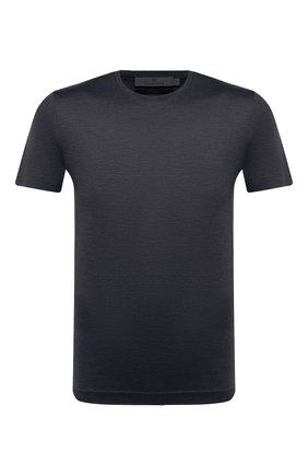 Мужская шелковая футболка CANALI серого цвета, арт. T0003/MX01184 | Фото 1