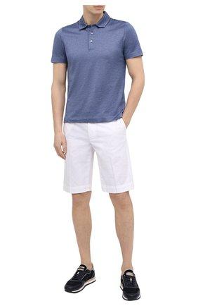 Мужское хлопковое поло CANALI синего цвета, арт. T0238/MJ01154 | Фото 2