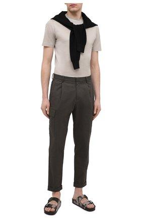 Мужская хлопковая футболка CANALI светло-бежевого цвета, арт. T0356/MJ00002 | Фото 2