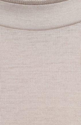 Мужская хлопковая футболка CANALI светло-бежевого цвета, арт. T0356/MJ00002   Фото 5