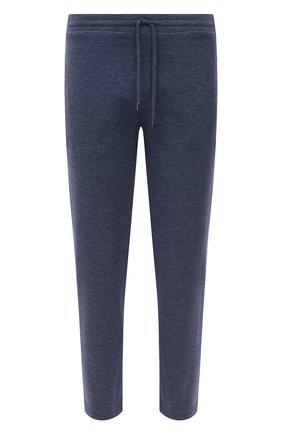 Мужские хлопковые брюки CANALI темно-синего цвета, арт. T0656/MJ01159 | Фото 1 (Мужское Кросс-КТ: Брюки-трикотаж; Длина (брюки, джинсы): Стандартные; Случай: Повседневный; Материал внешний: Хлопок; Стили: Спорт-шик)