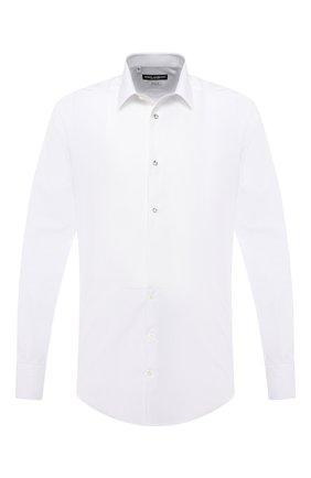 Мужская хлопковая сорочка DOLCE & GABBANA белого цвета, арт. G5EN4T/GED78 | Фото 1