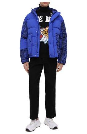 Мужская пуховая куртка kenzo x kansai yamamoto KENZO синего цвета, арт. FB550U1299KD | Фото 2