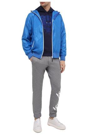 Мужской хлопковое худи KENZO темно-синего цвета, арт. FB55SW3174XF | Фото 2