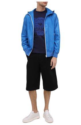 Мужской хлопковый свитшот KENZO темно-синего цвета, арт. FB55SW1174XF | Фото 2