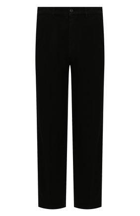 Мужские хлопковые брюки KENZO черного цвета, арт. FB55PA2555AA | Фото 1 (Длина (брюки, джинсы): Стандартные; Случай: Повседневный; Материал внешний: Хлопок; Стили: Кэжуэл)