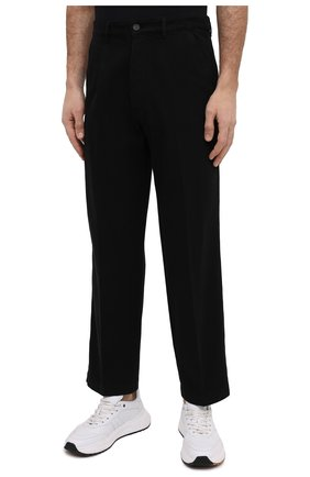Мужские хлопковые брюки KENZO черного цвета, арт. FB55PA2555AA | Фото 3 (Длина (брюки, джинсы): Стандартные; Случай: Повседневный; Материал внешний: Хлопок; Стили: Кэжуэл)