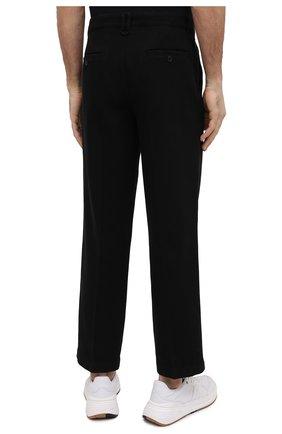 Мужские хлопковые брюки KENZO черного цвета, арт. FB55PA2555AA | Фото 4 (Длина (брюки, джинсы): Стандартные; Случай: Повседневный; Материал внешний: Хлопок; Стили: Кэжуэл)