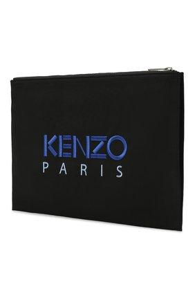 Мужской текстильный футляр для документов KENZO черного цвета, арт. FA65PM322F20 | Фото 2