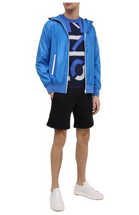 Мужские хлопковые шорты kenzo sport KENZO черного цвета, арт. FA65PA7204MS | Фото 2 (Кросс-КТ: Трикотаж; Длина Шорты М: До колена; Материал внешний: Хлопок; Стили: Спорт-шик; Принт: С принтом)