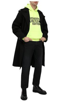Мужской хлопковое худи VETEMENTS светло-зеленого цвета, арт. UE51TR820Y 1604/M | Фото 2