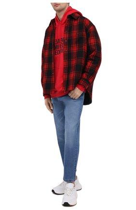 Мужской хлопковое худи VETEMENTS красного цвета, арт. UE51TR820R 1604/M | Фото 2