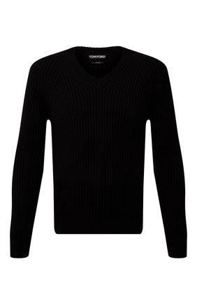 Мужской кашемировый свитер TOM FORD черного цвета, арт. BWK56/TFK300 | Фото 1