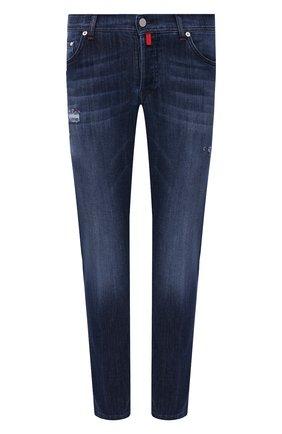 Мужские джинсы KITON синего цвета, арт. UPNJSM/J07T27 | Фото 1