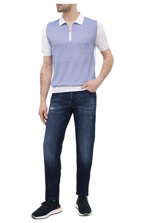 Мужские джинсы KITON синего цвета, арт. UPNJSM/J07T27 | Фото 2