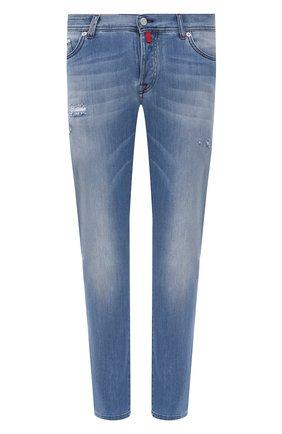 Мужские джинсы KITON голубого цвета, арт. UPNJSM/J07T27 | Фото 1