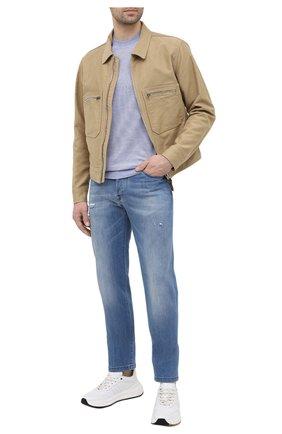 Мужские джинсы KITON голубого цвета, арт. UPNJSM/J07T27 | Фото 2