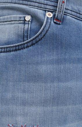 Мужские джинсы KITON голубого цвета, арт. UPNJSM/J07T27 | Фото 5