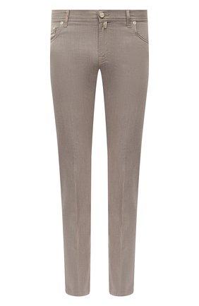 Мужские хлопковые брюки KITON бежевого цвета, арт. UPNJSJ07T40 | Фото 1