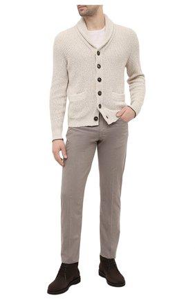 Мужские хлопковые брюки KITON бежевого цвета, арт. UPNJSJ07T40 | Фото 2