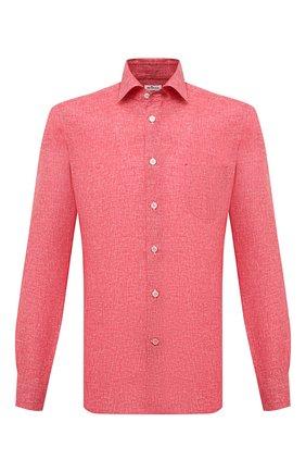 Мужская хлопковая рубашка KITON красного цвета, арт. UMCNERH0768506 | Фото 1