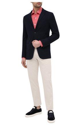 Мужская хлопковая рубашка KITON красного цвета, арт. UMCNERH0768506 | Фото 2