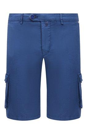 Мужские шорты из хлопка и шелка KITON синего цвета, арт. UFPPBJ07T42/44-52 | Фото 1