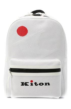 Мужской текстильный рюкзак KITON белого цвета, арт. UBFITKN00820 | Фото 1
