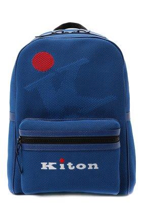 Мужской текстильный рюкзак KITON синего цвета, арт. UBFITKN00820 | Фото 1