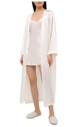 Женская шелковая сорочка LUNA DI SETA белого цвета, арт. VLST08008 | Фото 2