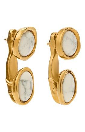 Женские серьги LOEWE золотого цвета, арт. J647239X54 | Фото 3