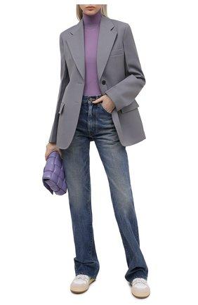 Женские кожаные кеды LANVIN белого цвета, арт. FW-SKDK00-NAS1-P21 | Фото 2