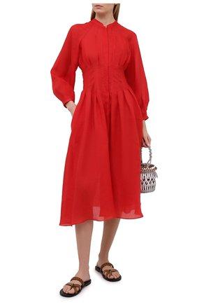 Женское хлопковое платье THREE GRACES красного цвета, арт. TGL DR6035 | Фото 2