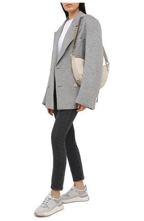 Женские комбинированные кроссовки SANTONI серого цвета, арт. WBI060832BGTXHNNG41 | Фото 2