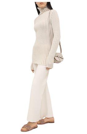 Женские кожаные шлепанцы SANTONI бежевого цвета, арт. WHYT59288HI1TPPTP29 | Фото 2