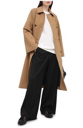Женские кожаные кеды xl sole ALEXANDER MCQUEEN черного цвета, арт. 553770/WHZ4S | Фото 2 (Подошва: Платформа; Материал внутренний: Натуральная кожа)