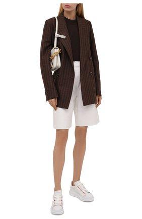 Женские кожаные кеды xl sole ALEXANDER MCQUEEN белого цвета, арт. 553770/WHZ4S | Фото 2 (Материал внутренний: Натуральная кожа; Подошва: Платформа)