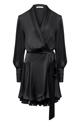 Женское шелковое платье ZIMMERMANN черного цвета, арт. 8067DRAND | Фото 1
