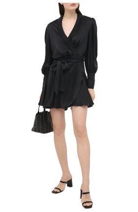 Женское шелковое платье ZIMMERMANN черного цвета, арт. 8067DRAND | Фото 2