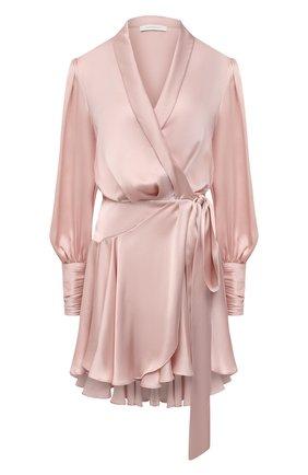 Женское шелковое платье ZIMMERMANN розового цвета, арт. 8067DRAND | Фото 1