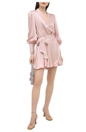 Женское шелковое платье ZIMMERMANN розового цвета, арт. 8067DRAND | Фото 2