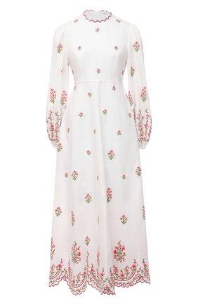 Женское льняное платье ZIMMERMANN светло-розового цвета, арт. 9332DP0P | Фото 1