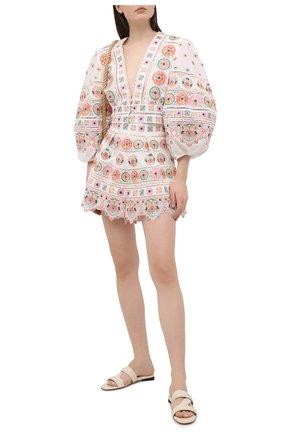 Женские хлопковые шорты ZIMMERMANN разноцветного цвета, арт. 9335ABRG | Фото 2