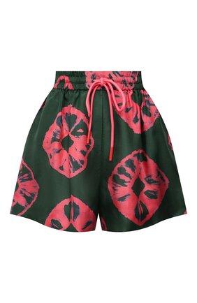 Женские шелковые шорты ZIMMERMANN зеленого цвета, арт. 9616AP0P | Фото 1