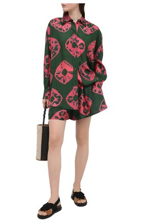 Женские шелковые шорты ZIMMERMANN зеленого цвета, арт. 9616AP0P | Фото 2